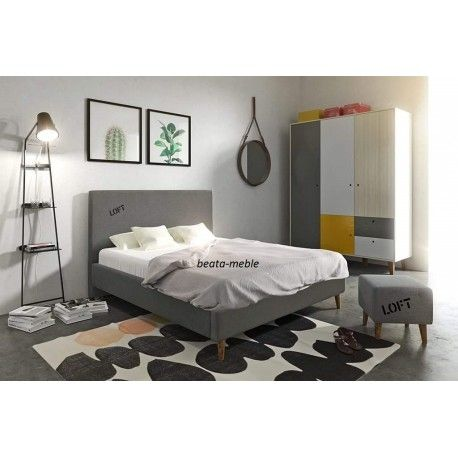 Ponadczasowe łóżko LOFT z materacem 140x200 od polskiego producenta