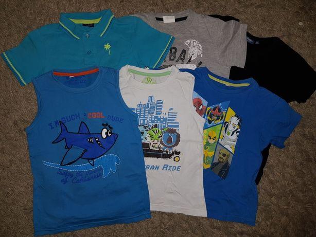 Paka ubrań dla chłopca 122 koszulka bluza spodnie dresowe