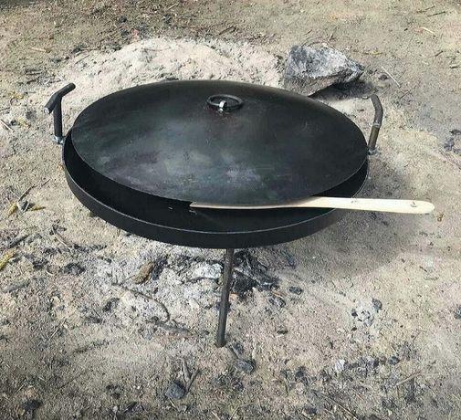 Сковорідка на вогонь 50 cм з кришкою :