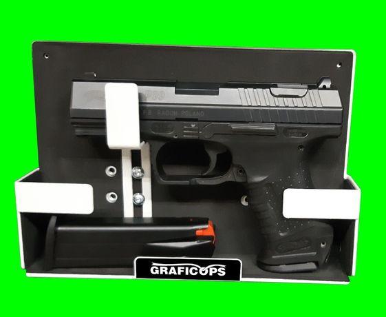 Uchwyt magnetyczny na pistolet broń