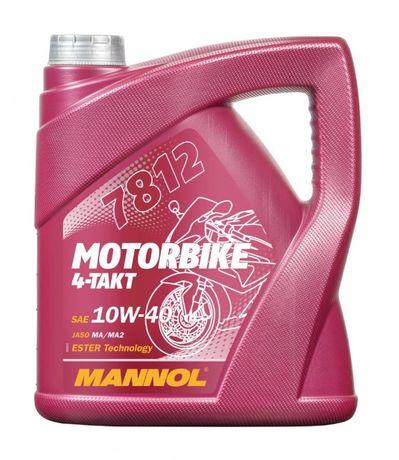 MANNOL olej silnikowy 4T MOTORBIKE 10W40 4L ESTER + MA2