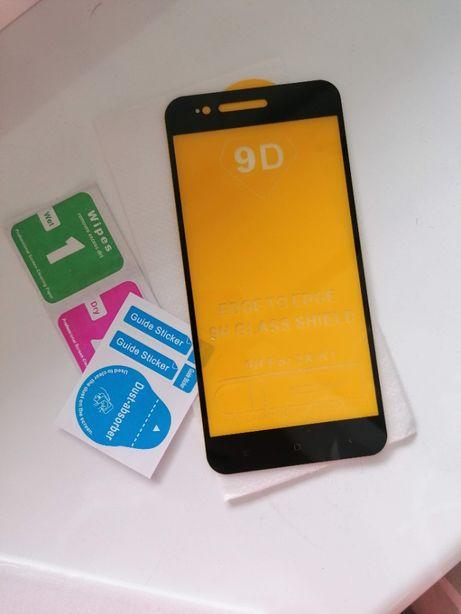 Защитное стекло для Xiaomi Mi A1 в черной рамке