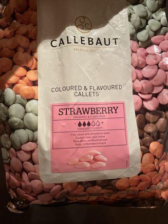 2 Кг Клубничный бельгийский шоколад Callebaut