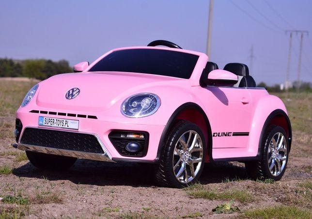 Auto Na Akumulator Volkswagen Beetle Garbus samochód dla dziewczynki