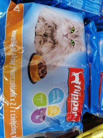 Karma dla kota DOLINA NOTECI Flipper Kurczak/Cielęcina w sosie 4 opak.
