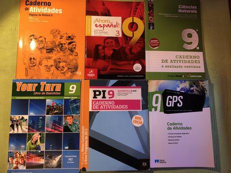 Cadernos de atividades 9 ano
