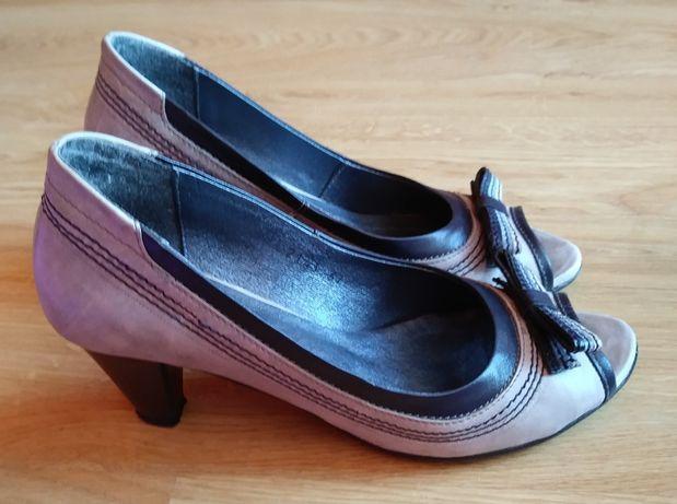 Buty skórzane Zych Staszewski, rozm 37, kolor Jasny Beż