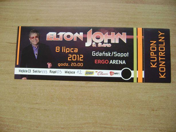Starocie z PRL - Bilet na koncert Eltona Johna 8.07.2012 r.