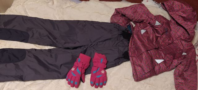 Kurtka narciarska i spodnie narciarskie rozm 152