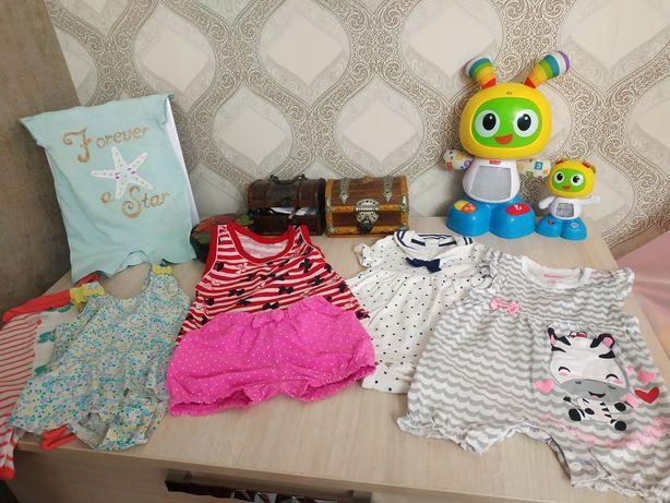 Пакет набор фирменной одежды, бодиков Fisher price,H&M и Mark& Spencer