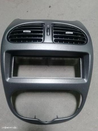 Aro do radio / entradas ar - Peugeot 206 ( botoes cromados )