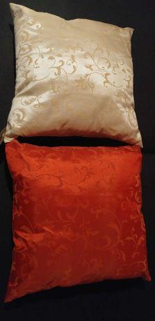 Poduszki jaśki wzór arabeska orient czerwona beż złota 40x40 glamour