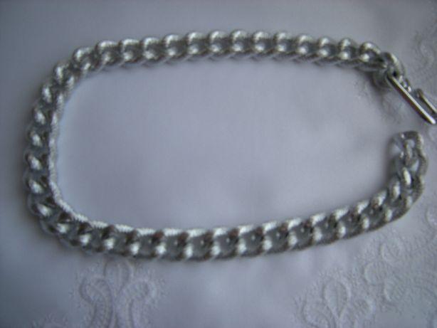 naszyjnik gruby łańcuch dł 42cm kolor srebrny