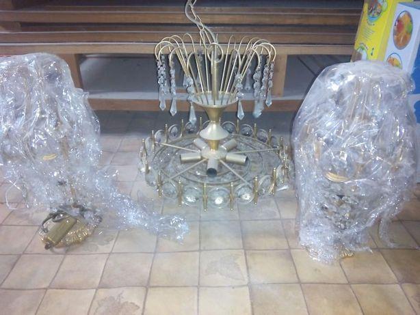 Candeeiro Cristal VTG+ 2 Apliques de mesa Cabeceira