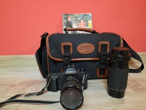 Zamienie Canon t50 + torba obiektyw