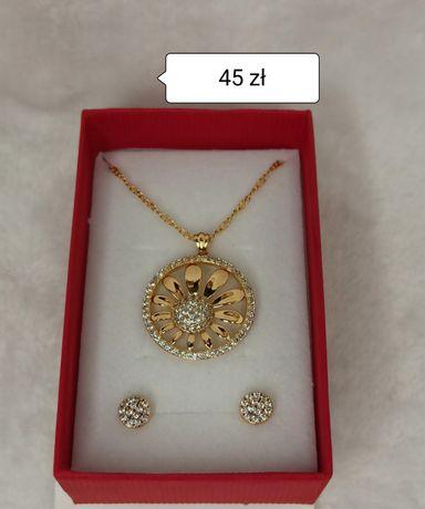 Komplety biżuterii pozłacanej