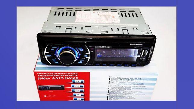 Автомагнитола Pioneer 1136 магнитола Пионер в автомобиль Usb+Sd+Fm+Aux