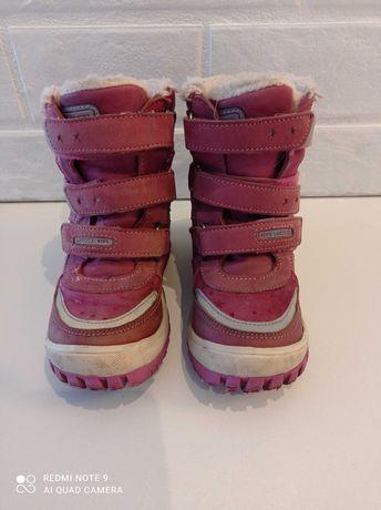 Buty zimowe dla dziewczynki Lasocki rozmiar 27 do skórzane