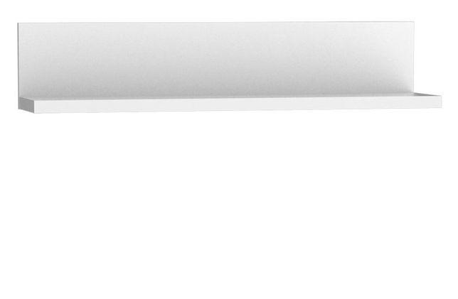 Biała elegancka półka wisząca - kolekcja SNOW