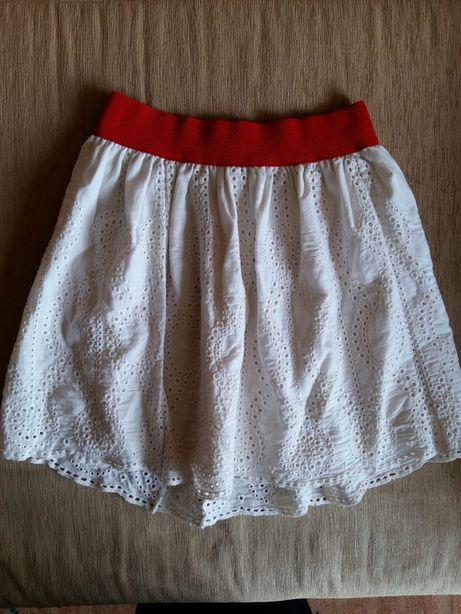 Юбка белая М-L полусолнце сарафан платье 46 48 размер шорты туника