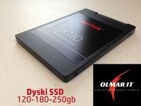 Dyski SSD 120gb-180gb-250gb -512gb Różne modele. Gwarancja.