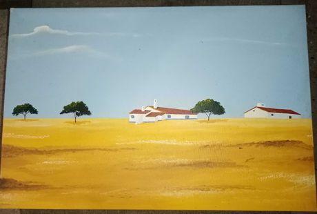 3 Quadros- pintura Monte Alentejano