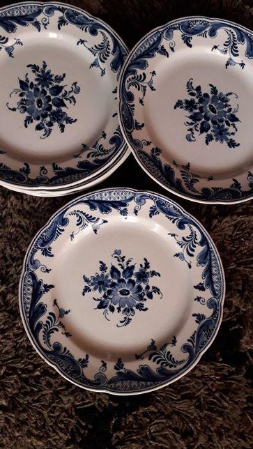 6 pratos holandeses antigos de delft