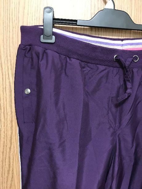 Spodnie dresowe fioletowe r.50 BonPrix NOWE SlimFit Plus size