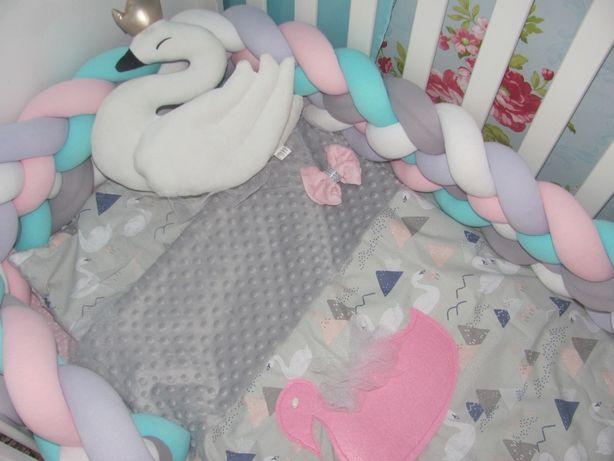 Pościel kołderka do łóżeczka łabędzie piękna!