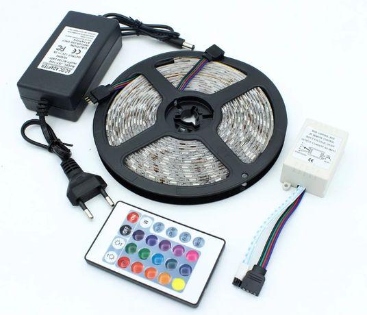 Светодиодная лента Led 5050 RGB комплект блок питания пульт лента !!!