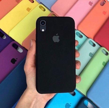 Чехол Silicone case Apple iPhone 6 6s 7+ 8 Plus X XR Чохол