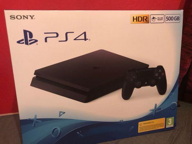 Playstation 4 Slim 500GB nowe czarny Media Expert + gra BF1 gratis