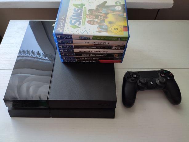 Konsola PlayStation 4, 500GB + 1 pad + 7 gier + PlayStation Camera