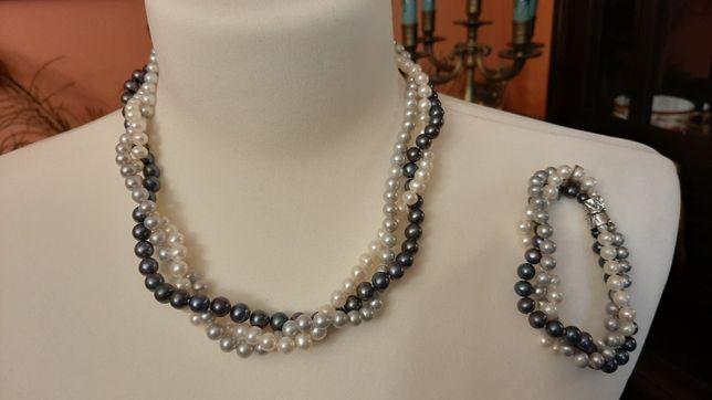 Komplet z perlami