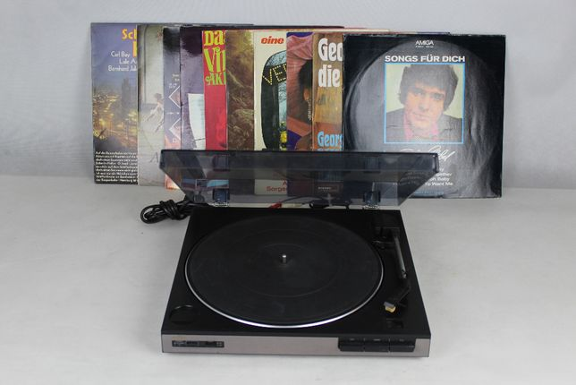 Gramofon AIWA PX-E77 automat + 10 płyt winylowych