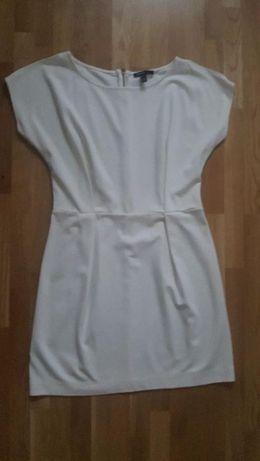 biała sukienka-Mango-SPRZEDAM