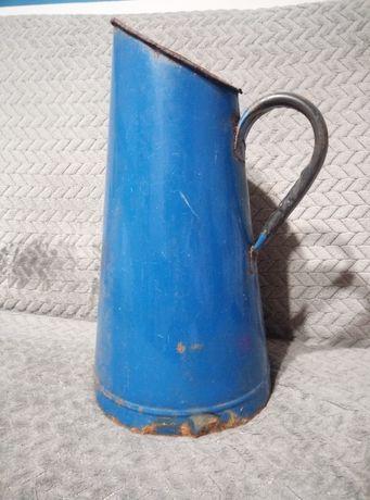 Duży dzban dzbanek emaliowany na wodę, mleko , donica