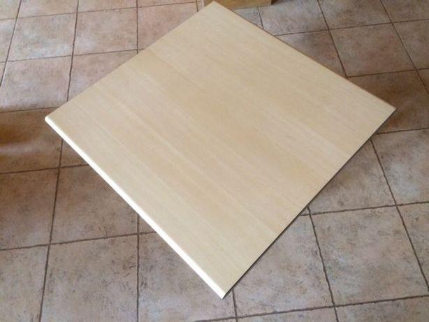 Tampo de mesa quadrada, em madeira de bétula