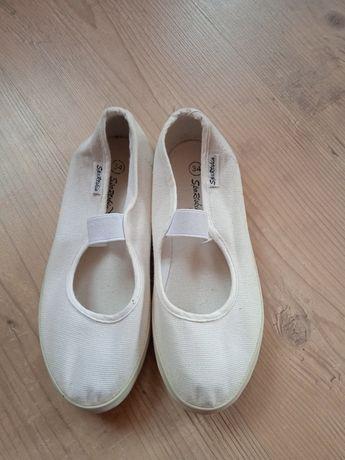 Тапочки туфли балетки белые  детские р 34