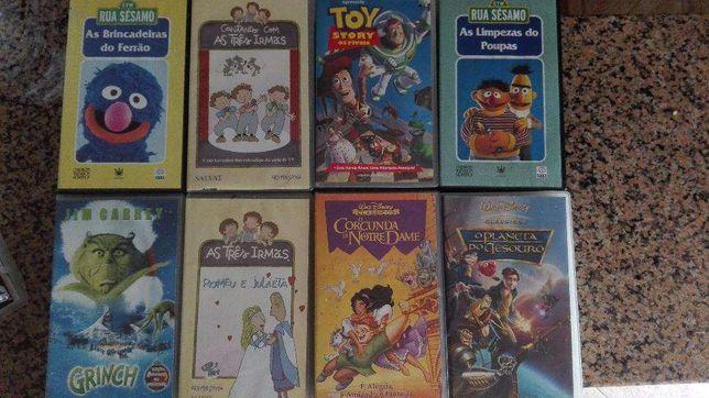 Cassetes VHS - Filmes para crianças