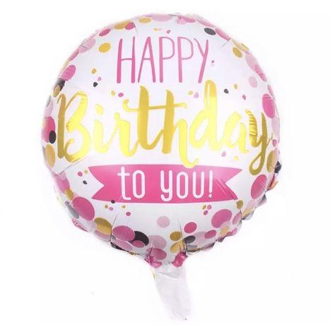 Balon urodzinowy happy birthday na hel