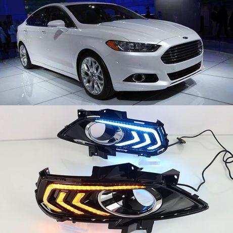 Противотуманная фара Дхо Ford Fusion Заглушка бампер.Накладка Форд Drl