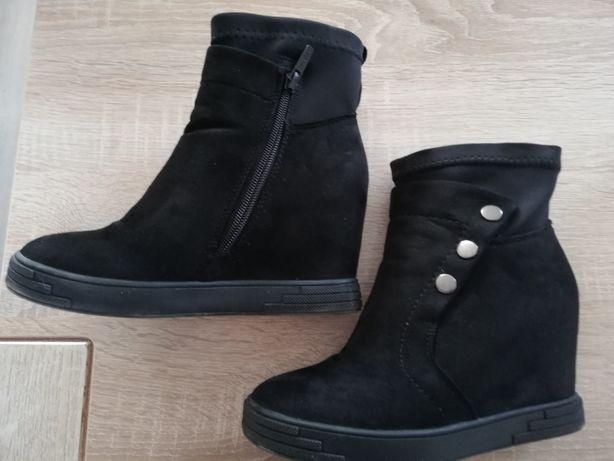 Buty, botki 37, czarne
