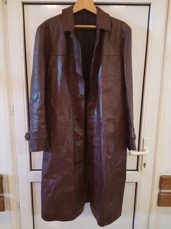 Wojskowy płaszcz skórzany