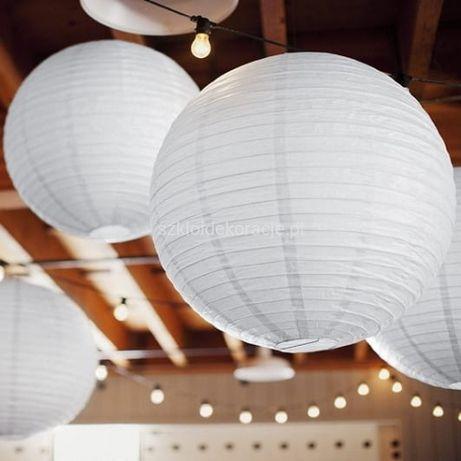 Lampion biały, abażur, dekoracja ślub, lampion papierowy, lampion slub