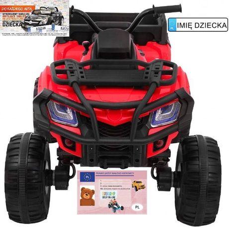 Quad XL ATV na akumulator Pilot 2.4GHZ 4x4 EVA EcoskórA 0909