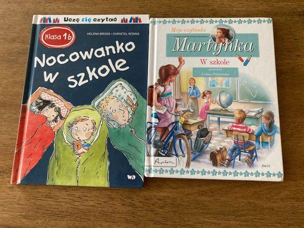 """2 książki: """"Martynka w szkole"""" i """"Nocowanko w szkole"""""""