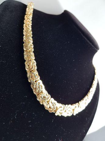 KRÓL wśród złota! Złoty łańcuszek KRÓLEWSKI! pr.585 NIESPOTYKANY!