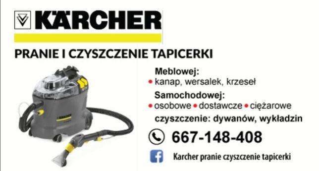 Usługi- Pranie czyszczenie tapicerki samochodowej meblowej.Faktura VAT