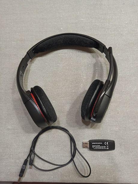 PC Słuchawki Bezprzewodowe Komputer Gry Plantronics GameCom 818